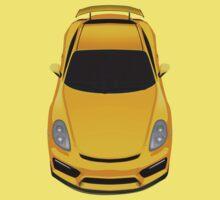 Porsche cayman GT4 (yellow) One Piece - Short Sleeve