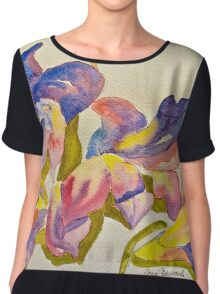 Scattered orchid petals Women's Chiffon Top
