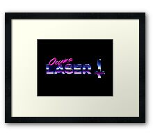 Occams Laser Chrome Cross Logo Framed Print