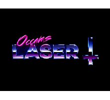 Occams Laser Chrome Cross Logo Photographic Print