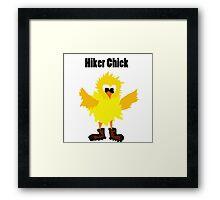 Cool Funny Hiker Chick Cartoon Framed Print