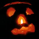 Happy Halloween: Pumpkin and Candle by Stephen Frost