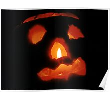 Happy Halloween: Pumpkin and Candle Poster