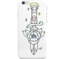 oldschool tattoo sword in bloom iPhone Case/Skin