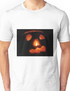 Happy Halloween: Pumpkin and Candle Unisex T-Shirt