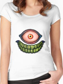 Face of death Women's Fitted Scoop T-Shirt
