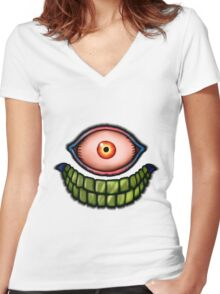 Face of death Women's Fitted V-Neck T-Shirt
