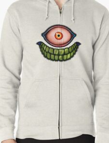 Face of death Zipped Hoodie