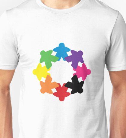 Meeple rainbow Unisex T-Shirt