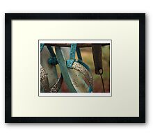 sandals in a shoe tree Framed Print
