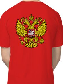 RUSSIA, RUSSIAN, Coat of Arms of the Russian Federation, ON red Classic T-Shirt