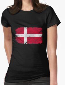 Denmark vintage flag Womens Fitted T-Shirt
