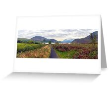 Ennerdale Panorama, Lake District National Park, UK Greeting Card