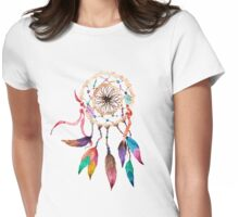 Bohemian Dreamcatcher in Vibrant Watercolor Paint Womens Fitted T-Shirt