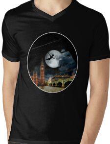 Sailing in the Night - Peter Pan London Scene Mens V-Neck T-Shirt