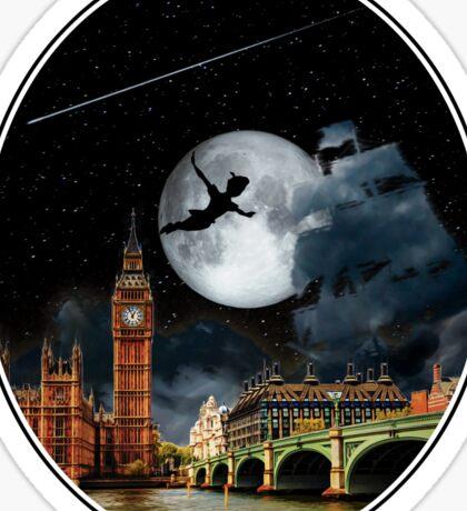 Sailing in the Night - Peter Pan London Scene Sticker