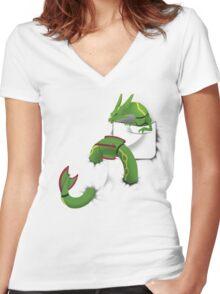 Pocketed Monsters - Noodle Pocket Women's Fitted V-Neck T-Shirt