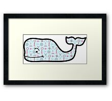 Nautical Print Vineyard Vines Whale Framed Print