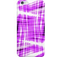 Black and purple streaks iPhone Case/Skin