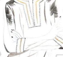 Fashion model in a tunic Sticker