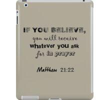 Matthew 21:22 light grey & pink iPad Case/Skin