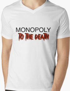 Monopoly: To the Death Mens V-Neck T-Shirt