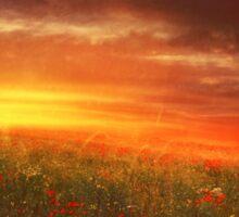 sunset landscape Sticker