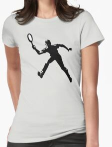 Tennis player Womens Fitted T-Shirt