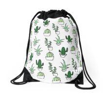 Succulents - Colored Drawstring Bag