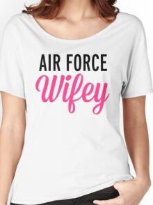 Air Force Wifey Quote Women's Relaxed Fit T-Shirt