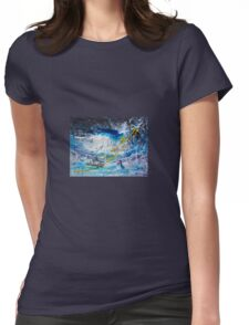 Walking on the Water Womens Fitted T-Shirt