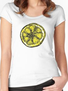 The Stone Roses lemon (Big) Women's Fitted Scoop T-Shirt