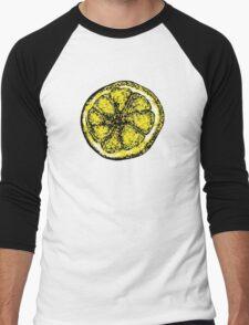The Stone Roses lemon (Big) Men's Baseball ¾ T-Shirt