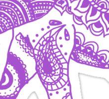 Patterned Elephant - Purple Sticker