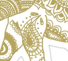 Patterned Elephant - Gold Sticker