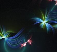 Fey Lights Fractal in Aurora 01 Sticker