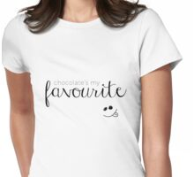 Chocolate my Fav Womens Fitted T-Shirt