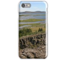 Tectonic plate boundaries in Thingellir National Park at Parliament Iceland iPhone Case/Skin
