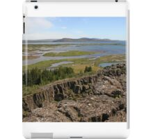 Tectonic plate boundaries in Thingellir National Park at Parliament Iceland iPad Case/Skin