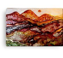"""""""Molten Mountains"""" Colorful Unique Original Artist's Design!  Canvas Print"""