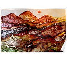 """Molten Mountains"" Colorful Unique Original Artist's Design!  Poster"