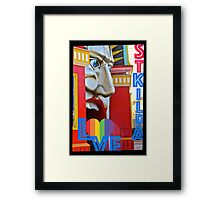 I LOVE ST KILDA Framed Print