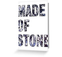 Made Of Stone -The Stone Roses Greeting Card