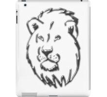 Silver Lion iPad Case/Skin