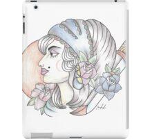 traditional gypsy woman tattoo iPad Case/Skin