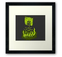 The Smake will consume you Framed Print