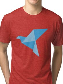 Blue paper bird Tri-blend T-Shirt
