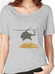 Helicopter flying design Women's Relaxed Fit T-Shirt