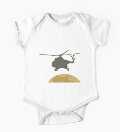 Helicopter flying design One Piece - Short Sleeve