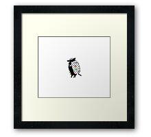 Army the Armadillo | Cute Animal Design Framed Print